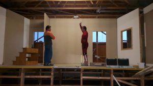 Bühnebild Aufbau